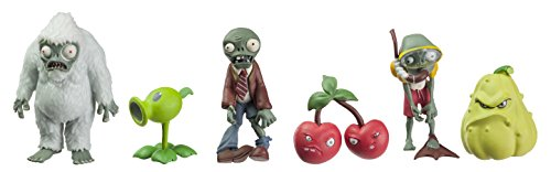 Plants Vs Zombies - Set di mini personaggi, 5 cm