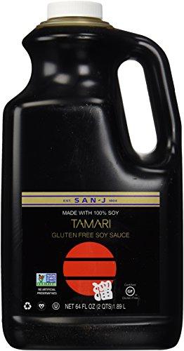San-J Tamari Gluten Free Soy Sauce, Non GMO Black Label, 64 Ounce (San J Soy Sauce compare prices)