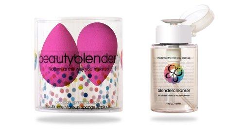 Beautyblender 2 + Blendercleanser Combo, The Ultimate MakeUp Sponge Applicator + Cleanser