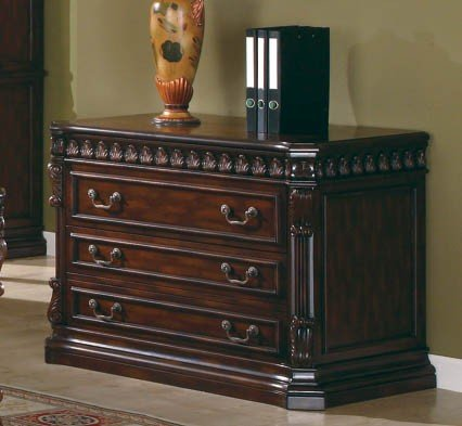 Coaster Home Furnishings Traditional File Cabinet, Walnut front-433342