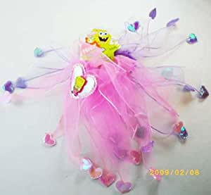 Spongebob Decorative Ribbon Hair Ponies - 2 Piece Sponge Bob Hair Accessory