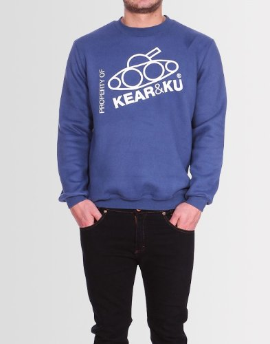 Kear and Ku Mens Slant Sweatshirt Blue : Blue - Xl