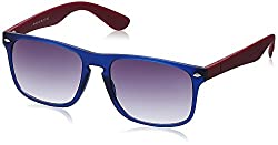 Joe Black Wayfarer Sunglasses (Blue and Red) (JB-510|C5)