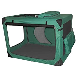 Moss Green Deluxe Portable Soft Crate