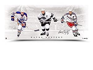 Buy Wayne Gretzky Signed Autographed Triple Threat Photo UDA Rangers Oilers Kings by Your Sports Memorabilia Store