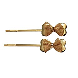Designer Kart Women's Hair Pin (DK1512HC14_Brown_Free Size)