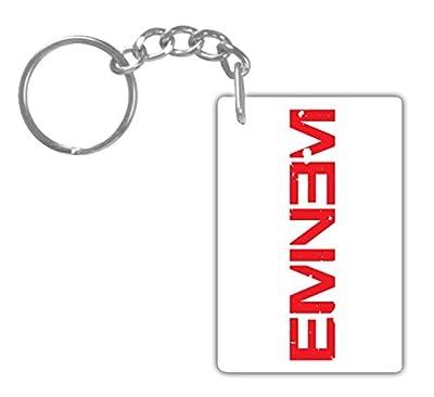 EMINEM#7 Aluminum Rectangle plate Keychain (1-Sided) Includes key ring.