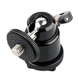 niceEshop(TM) Mini Ball Head with Lock and Hot Shoe Adapter Camera Cradle