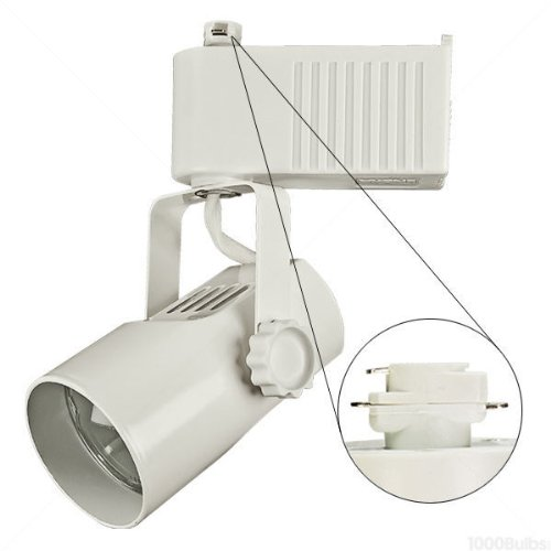 Nora Track Light Ntl-215/75W - White - Telescope - Operates 20-75 Watt Mr16 - Compatible With Halo Track - Built-In 12 Volt Electronic Transformer