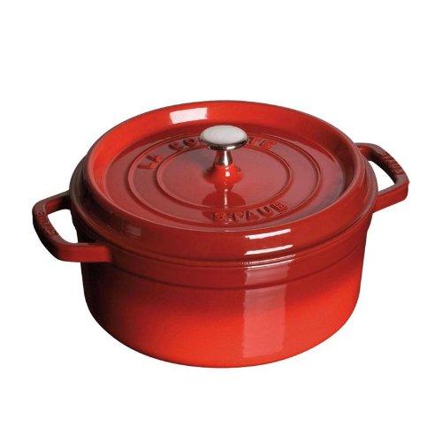 Staub 1102406 Round Cocotte Oven, 4 quart, Cherry