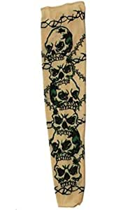 Barbed wire and skulls tattoo sleeve for guys for Barb wire tattoo sleeve