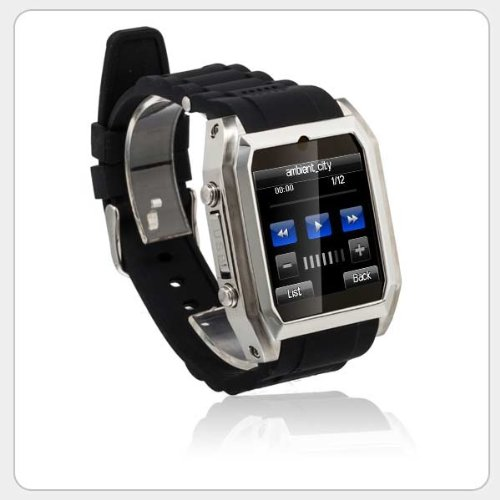 Tw206 High Definition 3G Smallest Touch Screen Cell Phone Stainless Steel Watch Supports Msn Facebook