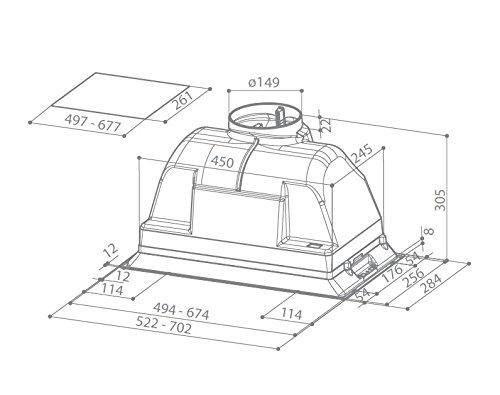 Faber filtro per cappa cucina inca smart cod - Filtro per cappa cucina ...