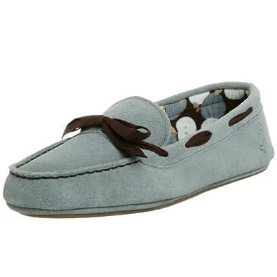 Daniel Green Women's Caramel Slipper Moc,Blue,8.5 W