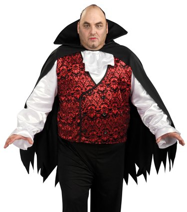 Rubies Count Dracula Adult Plus Size Vampire Halloween Costume