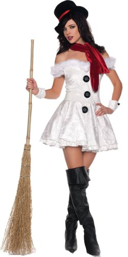 Underwraps Costumes  Women's Snow'd In, White/Black/Red, X-Large