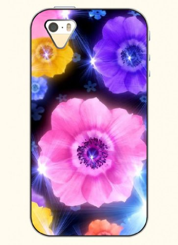 Oofit Phone Case Design With Colorful Flowers For Apple Iphone 4 4S 4G