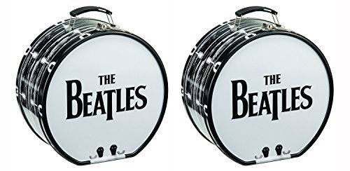 set-of-2-vandor-tin-beatles-drum-tote-black-white-8-inches-in-diameter-by-425-inches-wide-by-vandor