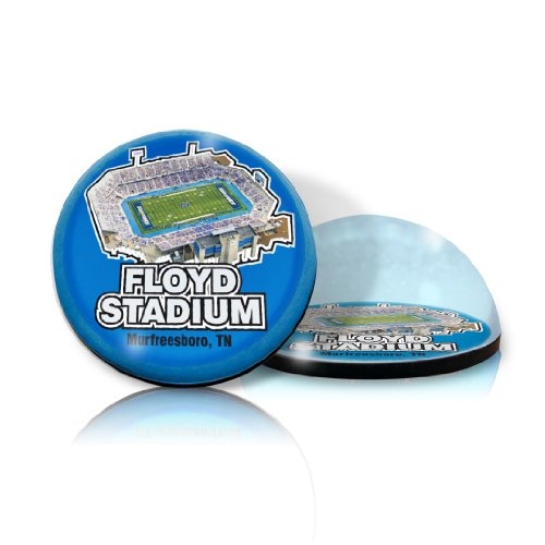 """NCAA Middle Tennessee University State Blue Raiders stadium in 2"""" Crystal magnet with Colored Window Gift Box"""