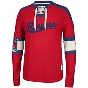 CCM New York Rangers Classic Lace-Up Jersey NHL Sweatshirt XL