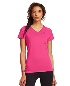 Under Armour Women's UA Tech™ Short Sleeve V-Neck Large Cerise