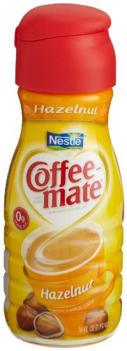 Nestle Coffee-Mate Non-Dairy Creamer, Hazelnut, 16-Ounce Bottles (Pack of 12)