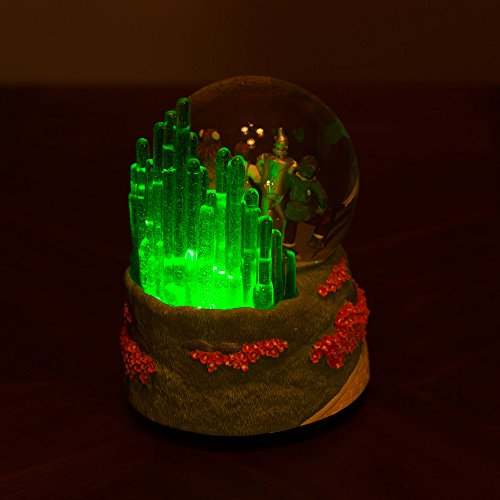 Emerald city wizard of oz lighted green water globe by the for Emerald city nickname