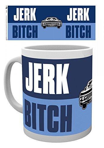 Set: Supernatural, Jerk Bitch Tazza Da Caffè Mug (9x8 cm) e 1 Sticker sorpresa 1art1®