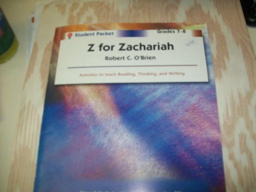Z for Zachariah - Student Packet by Novel Units, Inc.