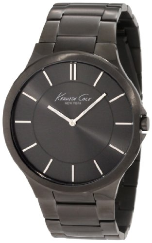 Kenneth Cole New York Men's KC9109 Slim Trip Grey IP Bracelet Watch