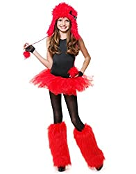 Red Monster Hood Costume Accessory