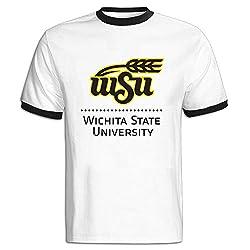 Wichita State University Color Blocking Short Tshirt Online T Easeful Mens