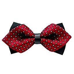 Sunward Fashion Classic Bow Tie Adjustable Tuxedo Party Wedding Bowtie Necktie (Red)