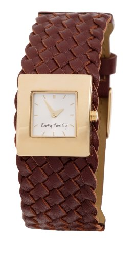 Betty Barclay  PVD Gold Ladies brown leather strap watch