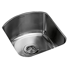 American Standard 7507.000.075 Culinaire 18-Inch Undercounter Mount Island Sink, Stainless Steel