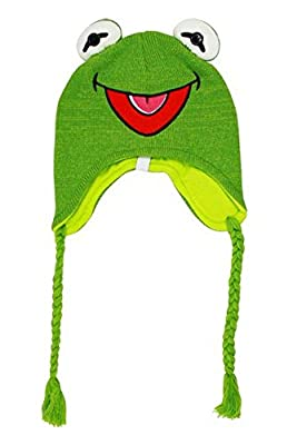 The Muppets Kermit The Frog Laplander Beanie Hat