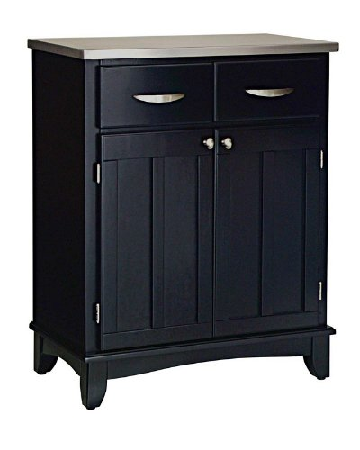 Cheap Server Sideboard with Stainless Steel Top in Black Finish (VF_HY-5001-0043)