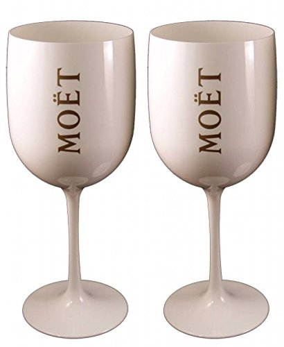 2 X Moet Chandon Moët Flutes Glas Cup Champager Ice Imperial White Nikki Beach (Moet Champagne Imperial compare prices)