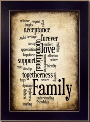 Millwork Engineering SB175B Family Framed Script Print by Artist Susan Ball, 10 x 14-Inch – Wall Decor Stickers