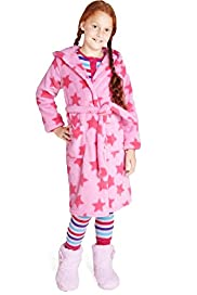 Hooded Star Print Dressing Gown with Stay New&#8482;