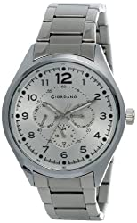 Giordano Analog Silver Dial Mens Watch - DTLMM 60064-22