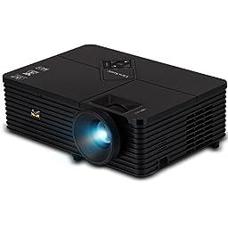 ViewSonic PJD5234 XGA DLP Projector, 2800 ANSI Lumens, 3D Blu-Ray w/HDMI, 120Hz, Black
