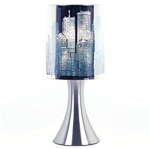 Lampe New York Tactile sans interrupteur - 3 intensités lumineuses - Bleu 41MUH9rEe0L._SL500_AA300_