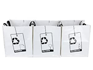 Present Time Paper, Plastic and Glass Recycle Bags