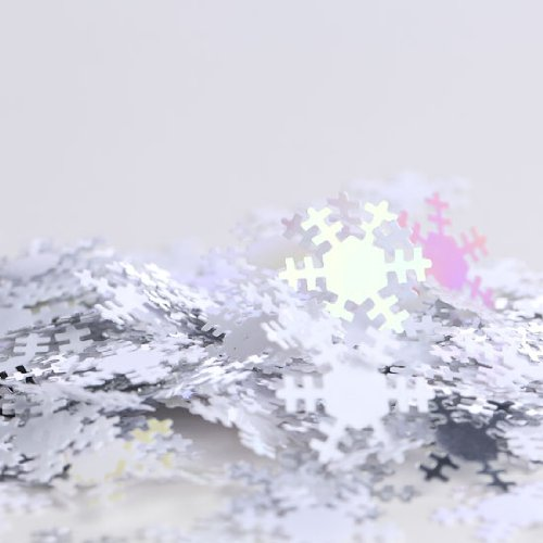 6 Packages of Iridescent Reflective Snowflake Confetti or Table Scatter Perfect for Weddings, Parties, and More