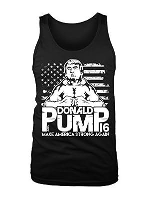 LOGOPOP Men's Donald Pump Make America Strong Again Tank Top