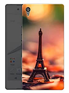 "Humor Gang Paris Eiffel Tower Hazy Printed Designer Mobile Back Cover For ""Sony Xperia Z5"" (3D, Matte, Premium Quality Snap On Case)"