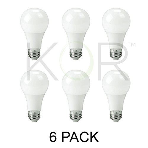 (Pack Of 6) 9W LED A19 Light Bulb – Equivalent to 60W – Non Dimmable – 5000K Daylight Glow – 800 Lumens – E26 Base – UL Listed
