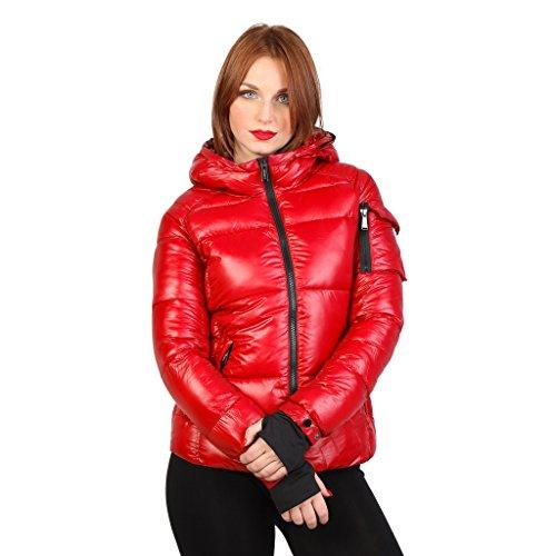Fontana 2.0 - Gaia - giacca invernale corta con cappuccio (42 IT) (Rosso cremisi)