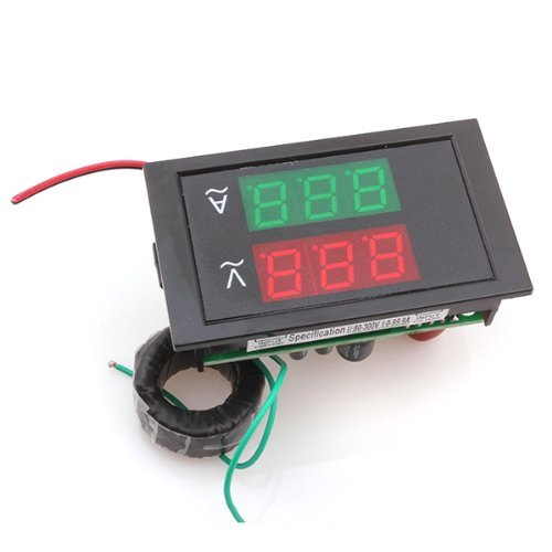 Vati Ac100-300V 100A 3-Digits Led Display Voltage Meter Voltmeter Ammeter Panel With 2 Wire